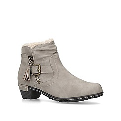 Carvela Comfort - Taupe 'Treat' block heel ankle boots