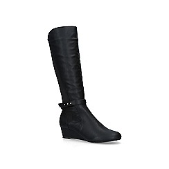 Carvela Comfort - Black 'Timothy' low heel knee high boots