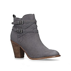 KG Kurt Geiger - Grey 'Spike2' block heel ankle boots
