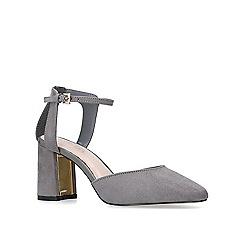 65226c61a06 Carvela - Grey  anika  block heeled court shoes