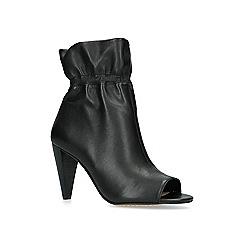 Vince Camuto - Black 'Addiena' leather peep toe boots