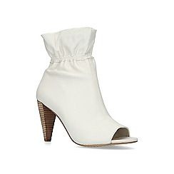Vince Camuto - White 'Addiena' leather peep toe boots