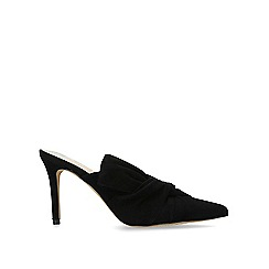 Vince Camuto - Black 'Amillada' leather heeled mules