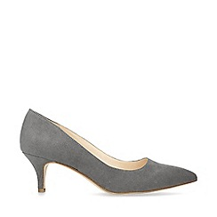 Nine West - Grey 'Flagship 55' suedette court shoes
