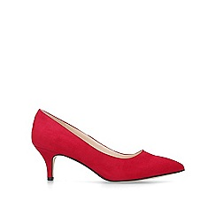 Nine West - Red 'Flagship 55' suedette court shoes