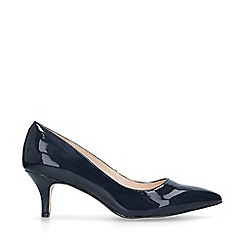 Nine West - Navy 'Flagship 55' patent court shoes