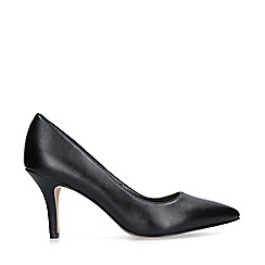 Nine West - Black 'Flagship 75' mid heel court shoes