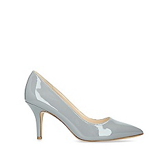 Nine West - Grey 'Flagship 75' patent mid heel court shoes