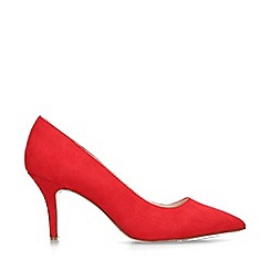 Nine West - Red 'Flagship 75' suedette mid heel court shoes