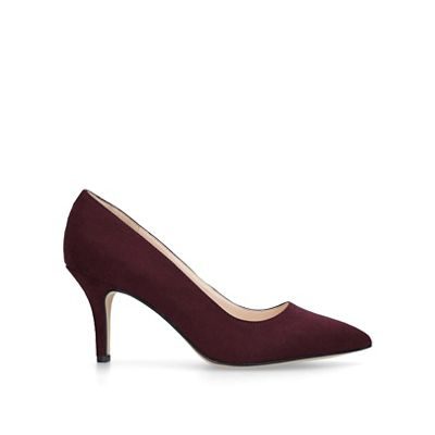 Nine West   Red 'flagship 75' Suedette Court Shoes by Nine West