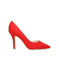 Nine West - Red 'Just4you' stiletto heeled court shoes