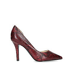 Nine West - Red 'Just4you' croc print stiletto heeled court shoes