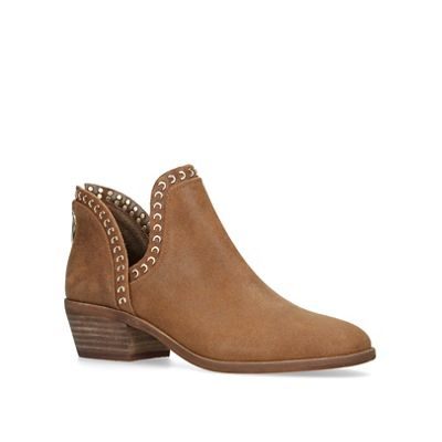 Vince Camuto   Brown 'prafinta' Studded Block Heeled Ankle Boots by Vince Camuto