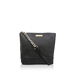 Carvela - Black 'Rich Zip Top Chn Bckt Bag' shoulder bag