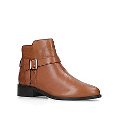 Carvela - Tan 'Twist' leather ankle boots