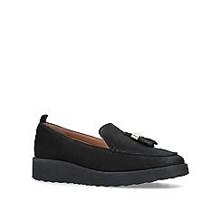 Carvela - Black 'Mystery' leather tassel loafers