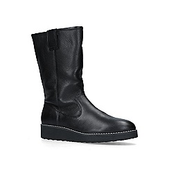 Carvela - Black 'Toasty' leather flat calf boots