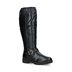 Carvela - Black 'Samba' leather knee high boots