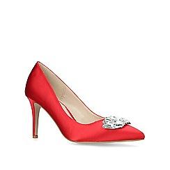 Carvela - Red 'Lively' embellished pointed toe court shoes