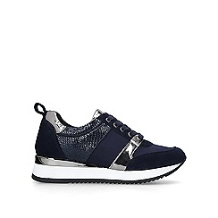 Carvela - Navy 'justified' low top trainers
