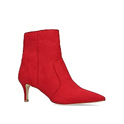 Carvela - Red 'Sugar' mid heel ankle boots