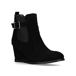Carvela - Black 'Sledge' suede wedge ankle boots