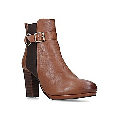Carvela - Tan 'Totally' leather block heel ankle boots