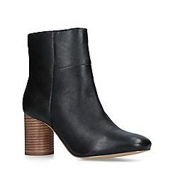 Carvela - Black 'Pop' Leather Ankle Boots