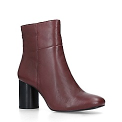 Carvela - Wine 'Pop' Leather Ankle Boots