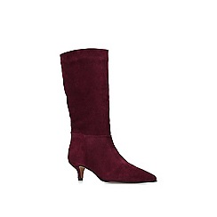 Carvela - Wine 'Surround' suede kitten heel boots