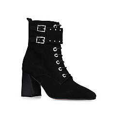 Carvela - Black 'Swing' suede block heeled ankle boots