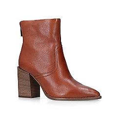 Carvela - Tan 'Shot' block heeled ankle boots