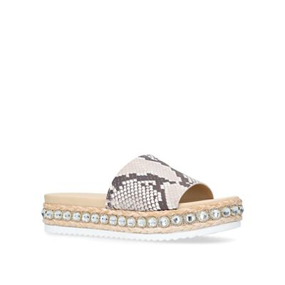 Carvela - Snakeprint 'kandle' studded flat sliders