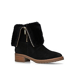 Carvela - Black 'Snug' faux fur ankle boots