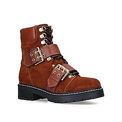 Carvela - Tan 'Saunter' leather biker boots
