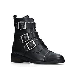 Carvela - Black 'Sparse' low heel biker boots