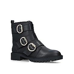 KG Kurt Geiger - Black 'Tania' leather biker boots