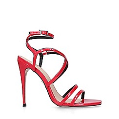 34a52764707b82 KG Kurt Geiger - Red  Alexis  stiletto heel sandals