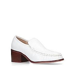 KG Kurt Geiger - White 'Meryl' block heeled loafers