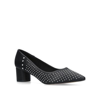 KG Kurt Geiger - Black 'Abigail' studded pointed toe court shoes