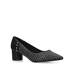 KG Kurt Geiger - Black 'Abigail' studded pointed toe court shoes