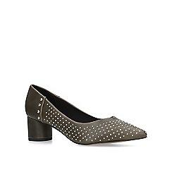 KG Kurt Geiger - Khaki 'Abigail' low heel court shoes