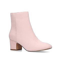 KG Kurt Geiger - Nude 'Taio' mid heel ankle boots