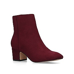 KG Kurt Geiger - Red 'Taio' mid heel ankle boots