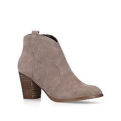 KG Kurt Geiger - Taupe 'Sade 2' block heel ankle boots
