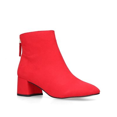 Miss KG - Red 'Jen' mid heel ankle boots boots boots 96a380