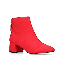 Miss KG - Red 'Jen' mid heel ankle boots