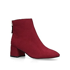 Miss KG - Wine 'Jen' block heeled ankle boots