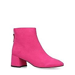 Miss KG - Pink 'Jen' block heel ankle boots