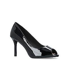 Miss KG - Black 'Cooper' patent peep toe court shoes